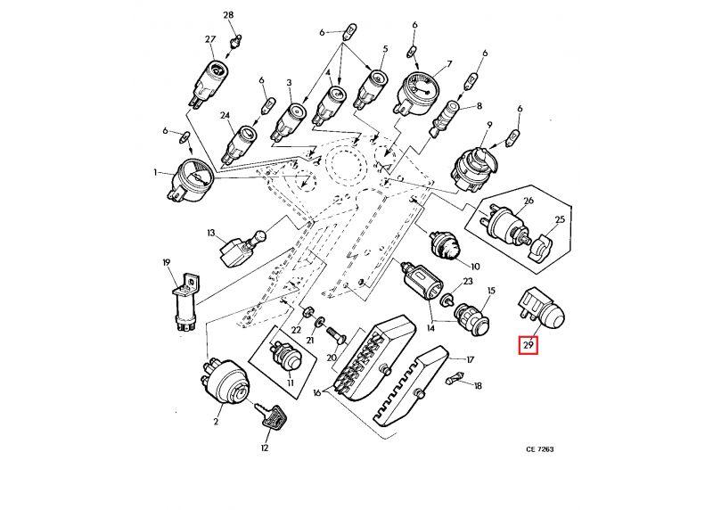 Interruptor De Arranque Original John Deere Series 30 Y 35 De14130