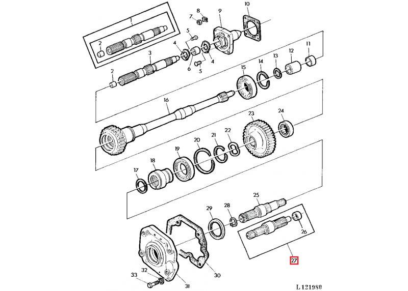 eje toma de fuerza 6 estr u00edas 540 rpm para tractores john