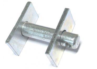 Pasador cabeza cuadrada con chapa para tensor vertical 16x64mm