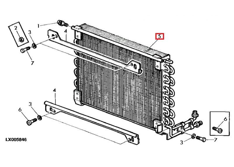 radiador condensador john deere serie 50 con cabina sg2